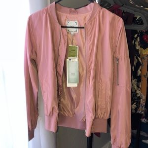 Brand new pink bomber jacket
